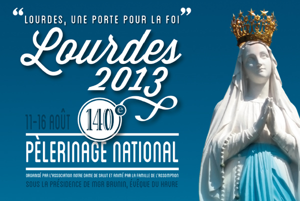 Lourdes 2013, Pelerinage national