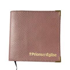 Couverture cuir Prions en Eglise format poche